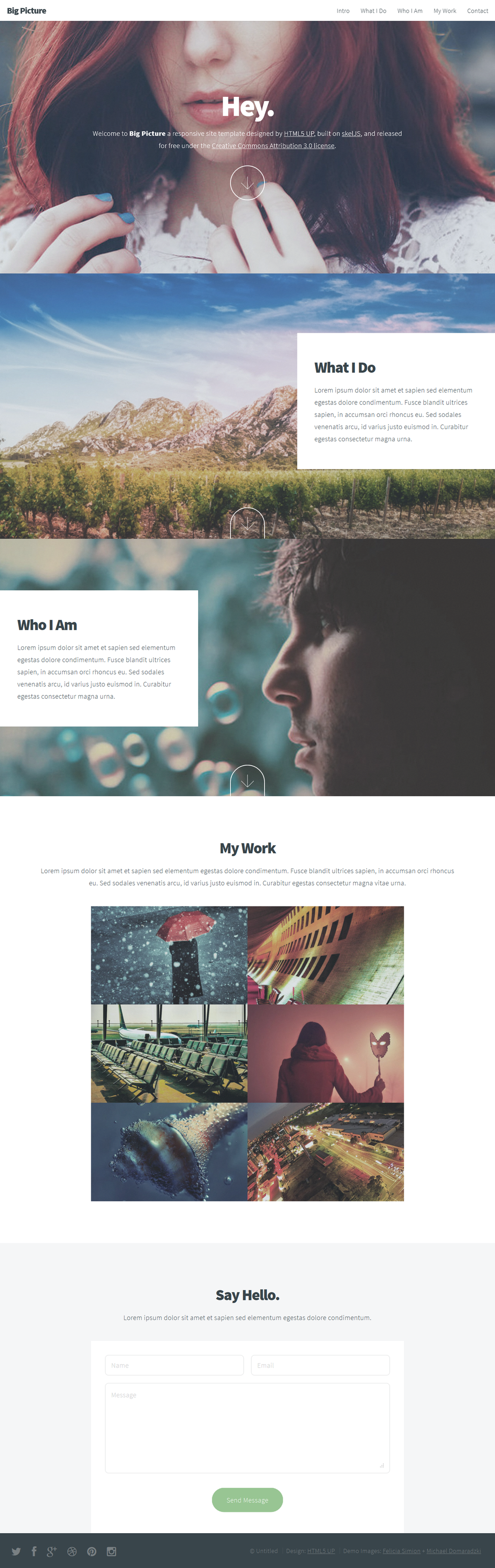 Big Picture: A responsive site template freebie by nodethirtythree