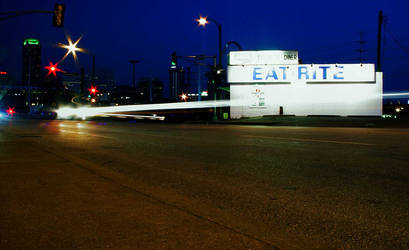 Eat Rite - St. Louis at Night by liquidcow