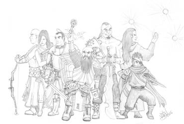 Our Dungeons and Dragons Adventure Party by BlackCross616