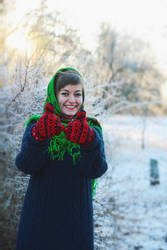 With Siberian mittens in the frost of Vidaga by ljenda