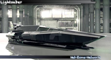 3D Art work of my Lightsaber ship. by Net-Zone-Network