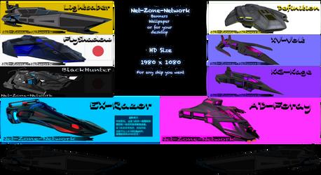 [Ship menu list] For Banners Wallpaper or Desktop. by Net-Zone-Network