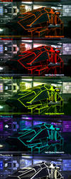 All 5 phantom-E Colors by Net-Zone-Network