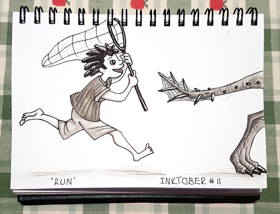 Inktober #11 - Run by Onanymous