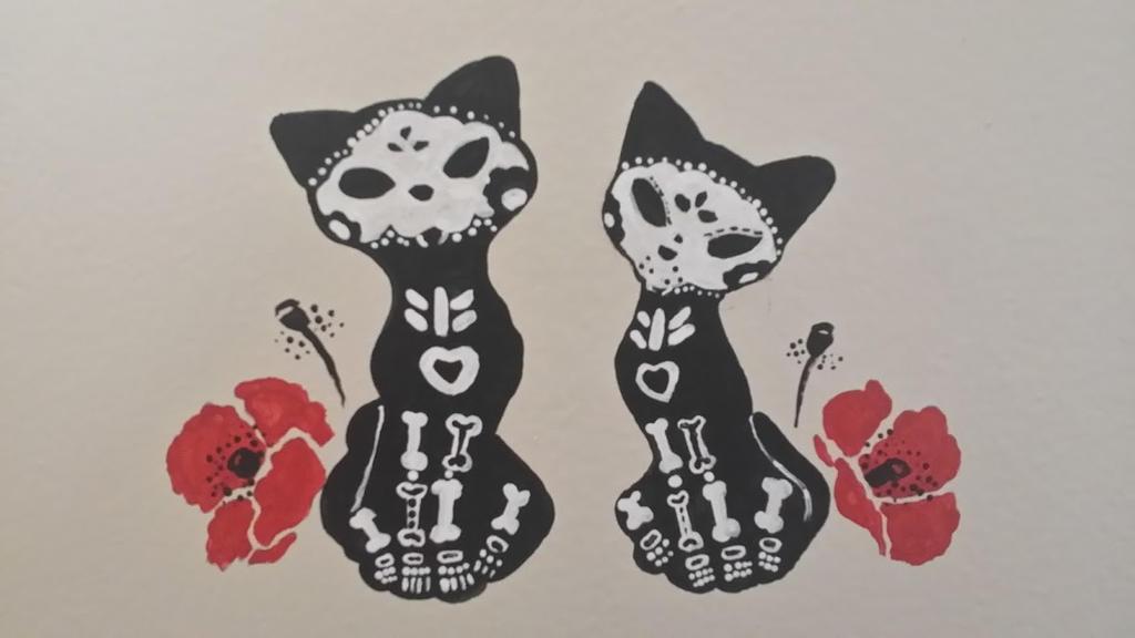 Candy Sugar Skull Cats by Nahima