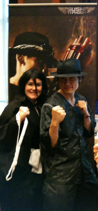 Tak Sakaguchi and Me (as Rukia) @ A-Kon 23