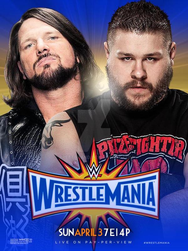WrestleMania 33 Poster by BrettBrand