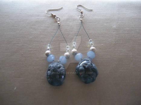 Earrings Intrecci di foglie blue