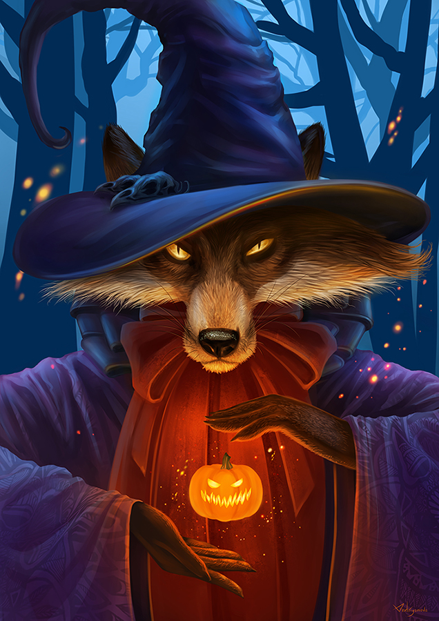 Halloween Fox by Alfa-Renard