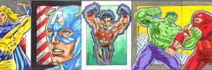 Marvel Sketch Cards Samples
