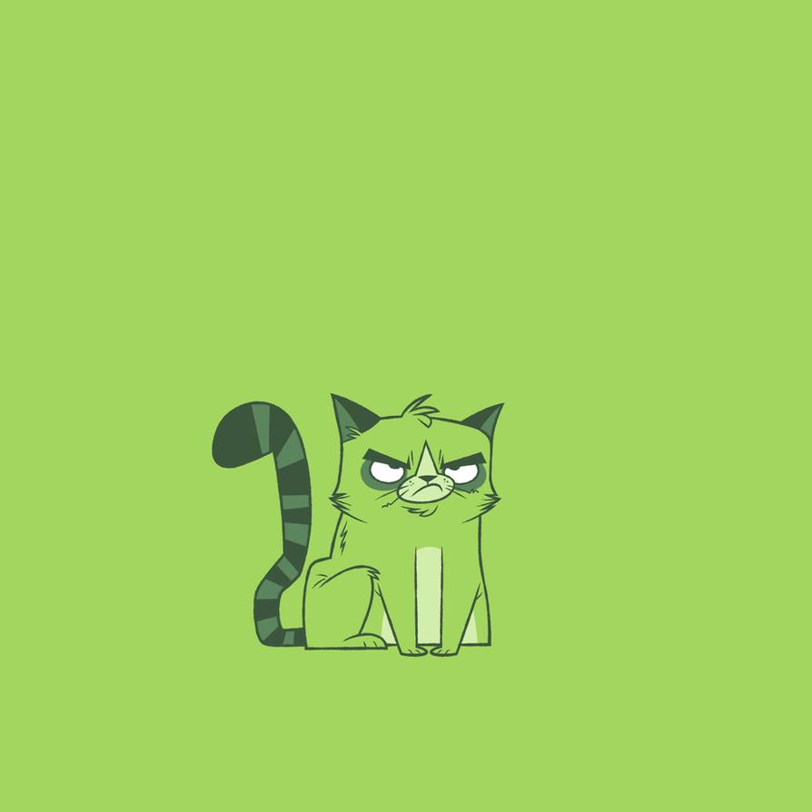Beast Boy as Grumpy Cat by Creaturesforhire