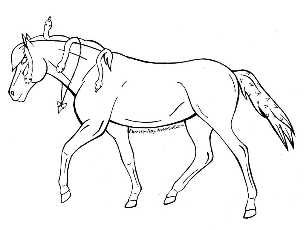 Simple Horse Lineart : Free fantasy horse lineart by shikumeka on deviantart