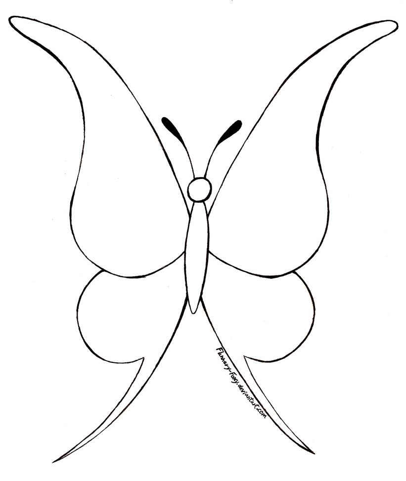 free butterfly lineart by shikumeka on deviantart