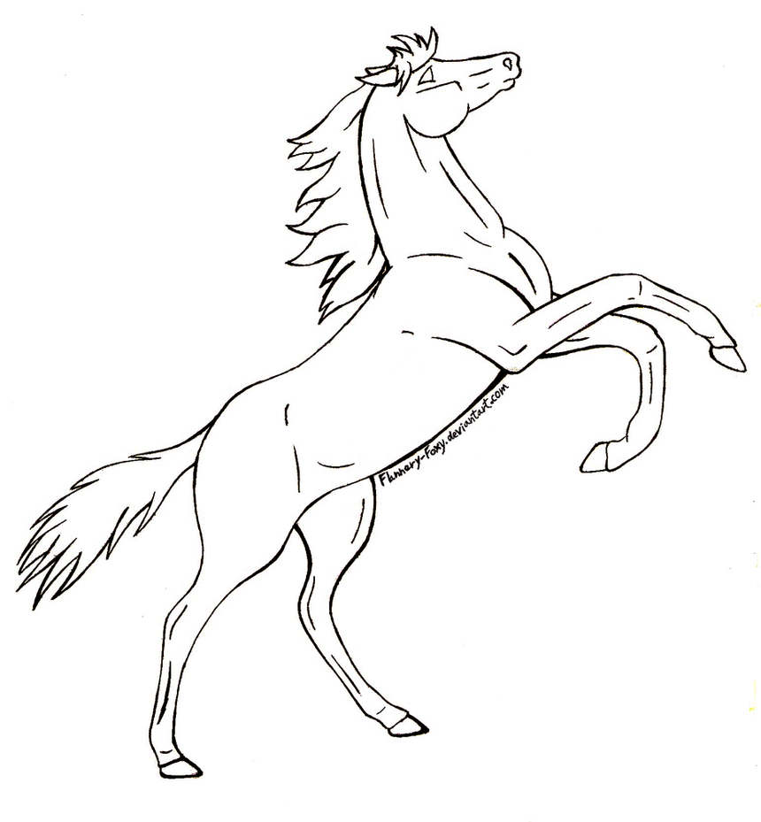 how to draw a horse running easy