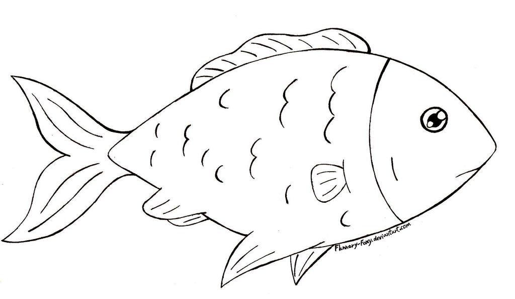 Line Art Of Fish : Free fish lineart by shikumeka on deviantart