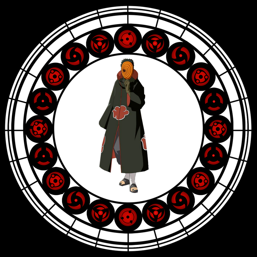 Tobi Stained Glass Window by the-masked-man-tobi