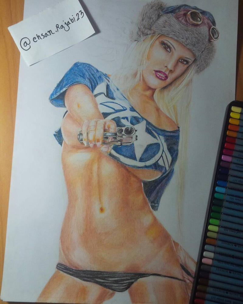 my pencil color art work by ehsan5fdp