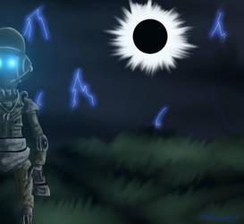 MANN VS MACHINE Robo Scout by Dreamer-In-Shadows