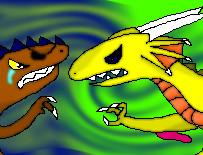 Berserk Dragon and Nice Pirate fight by KuznyaDragonOfBaa