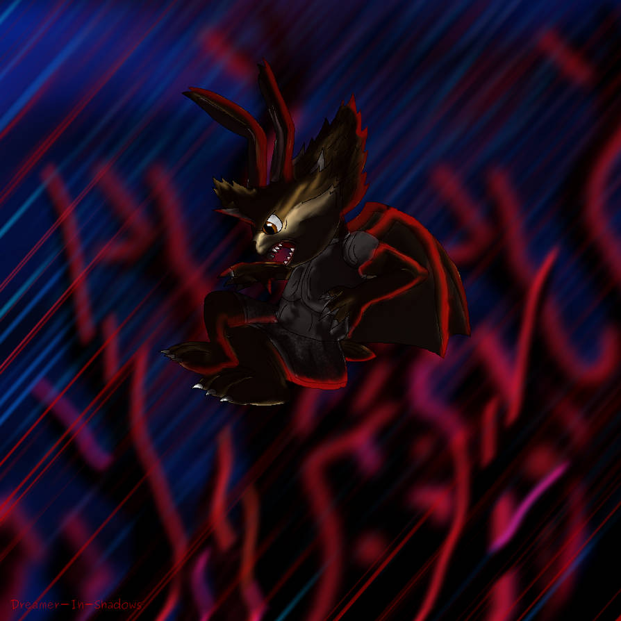 Attack of a Medival Dracorabbit by Dreamer-In-Shadows on
