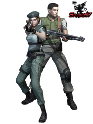 Jill And Chris - Render 1 by snakeff7