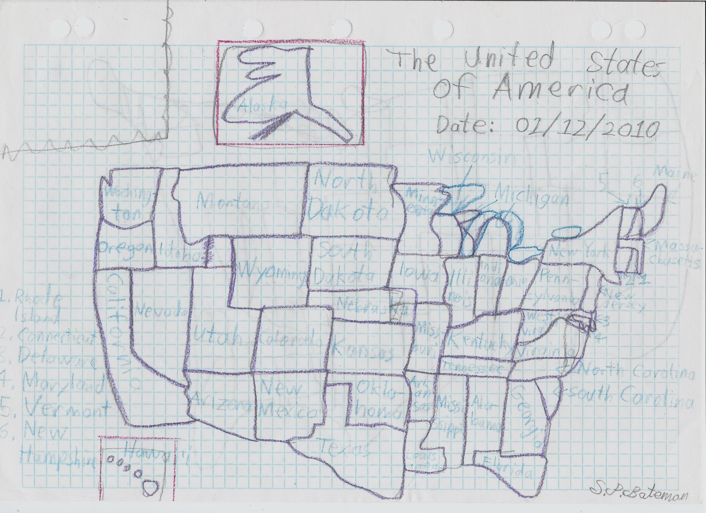 Hand Drawn Map Of The USA By SonAmyMovie On DeviantArt - Drawing of usa map