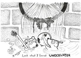 Inktober 4 Underwater by SzyszkaKultury