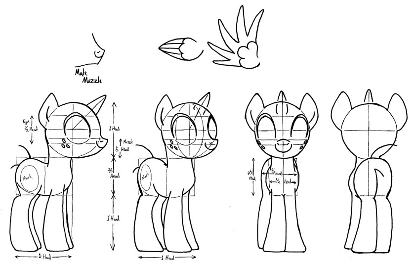 My Little Pony Study by Inkwell-Pony