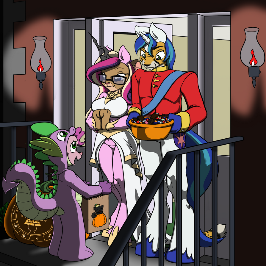 Theo and Felicia's Halloween 2014! by Inkwell-Pony