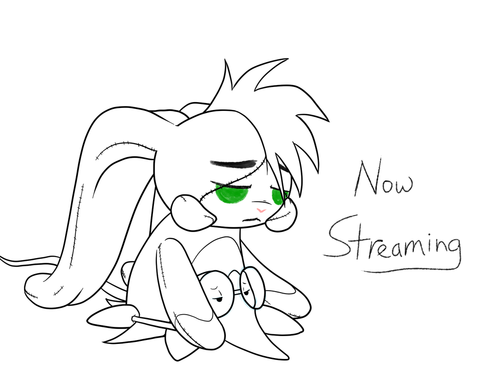 Now streaming, working for funds. by Inkwell-Pony