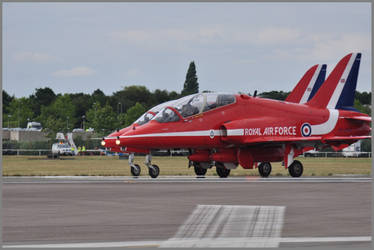 Red Arrows takeoff