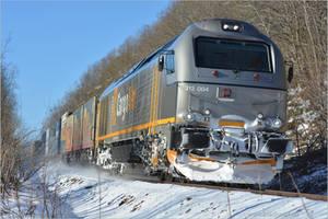 Norwegian Diesel Freight Train