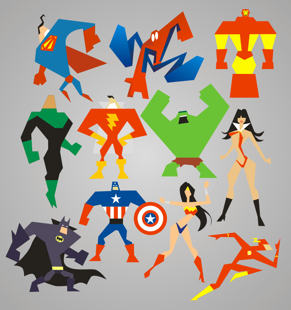 Supervectorheroes by meganima