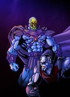 Skeletor Versus Hordak by ThulsaDoom