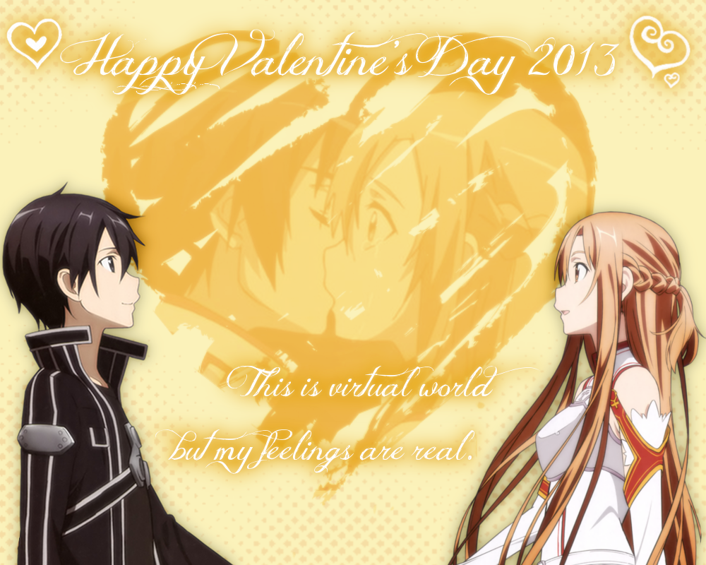 Vcard SAO Happy Valentines Day 2013 by 16thSquadSanseki on – Valentine Day Cards Online