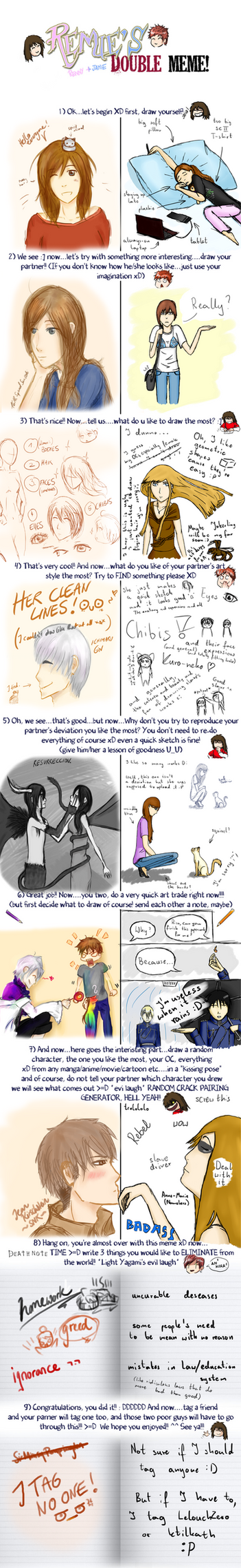 [Remie's Double Meme] Mee and Kuro by 16thSquadSanseki