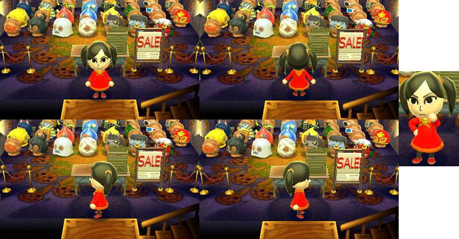 Animal Crossing: New Leaf Ashley's Dress (With QR) by Data-Drainz