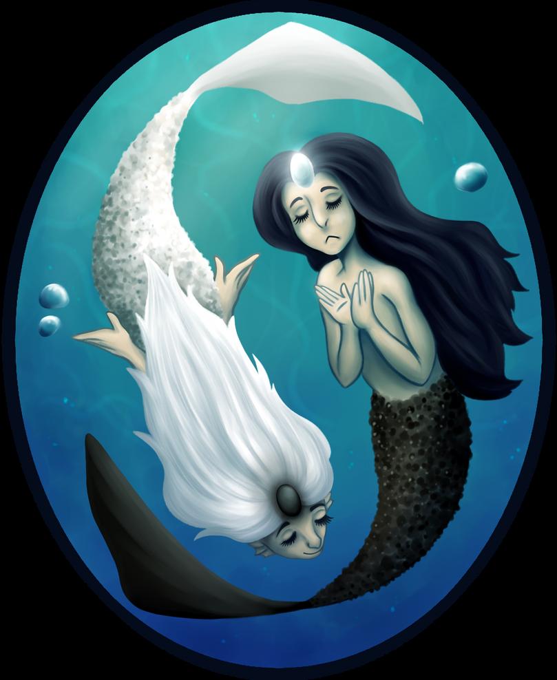 Yin Yang Mermaids by mellocat