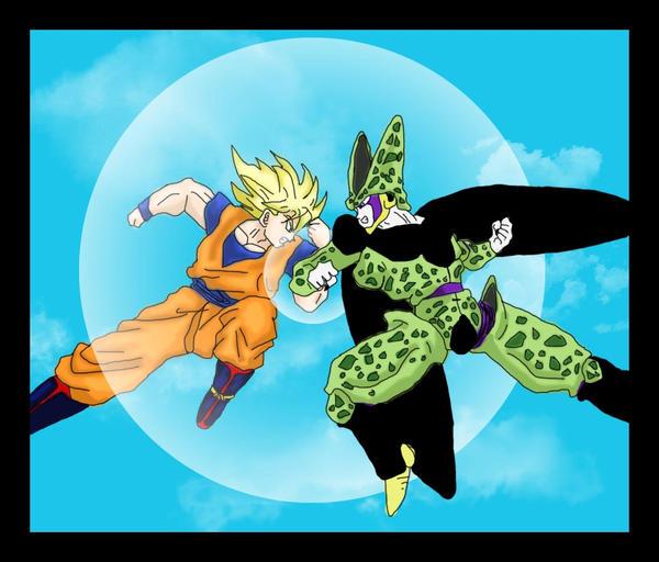 Goku Vs Cell by HTivey on DeviantArt
