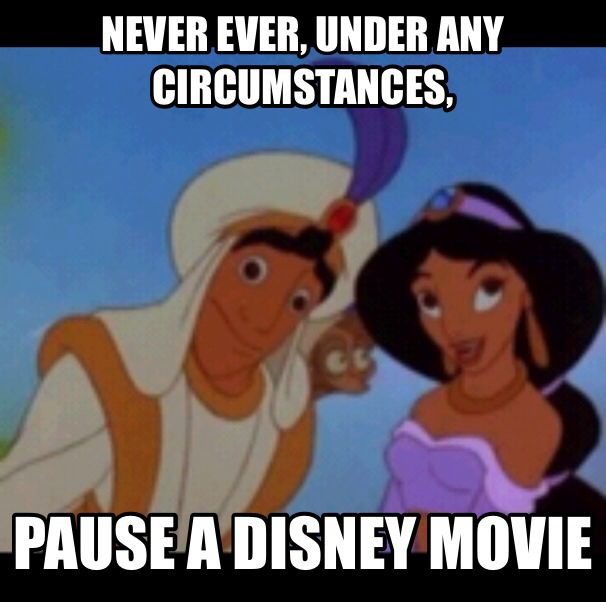 never pause a disney movie ever by coffee fueled conman on deviantart