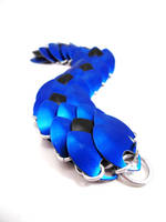 Black and Blue Dragon Scale Bracelet by SerenityinChains