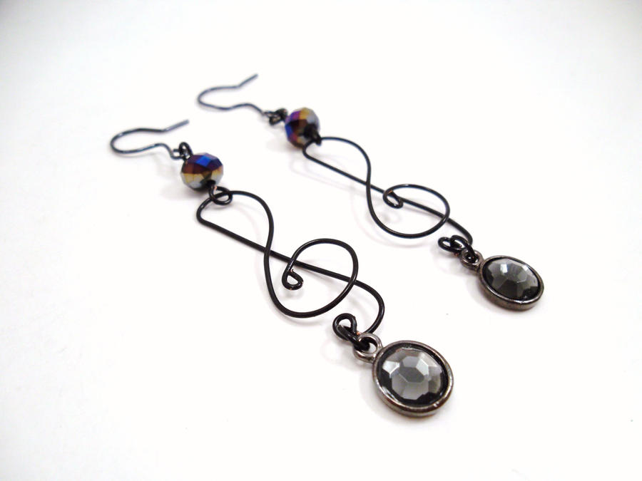 Treble Cleft Earrings by SerenityinChains
