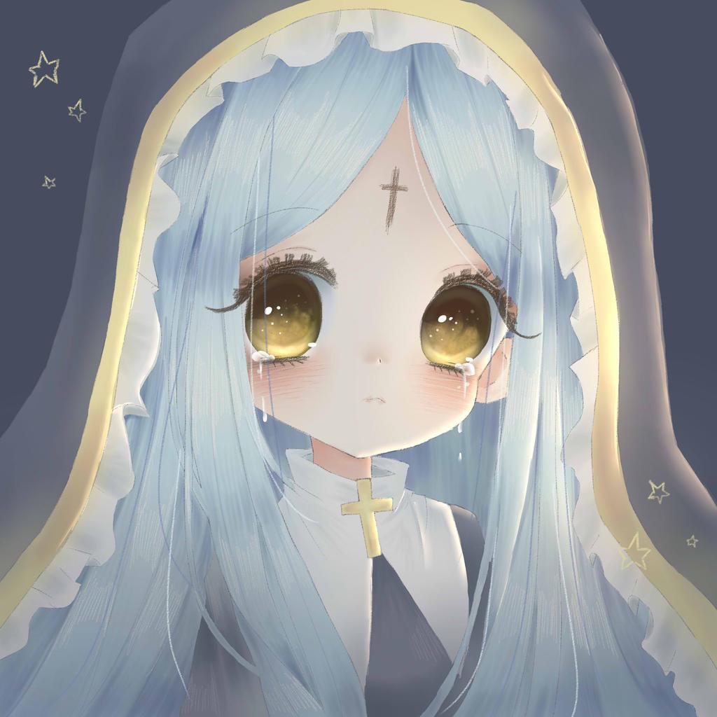 Tears Of A Nun By Cheriin On DeviantArt