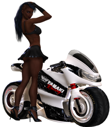 Biker Girl by Minaya86-stocks