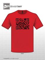 dA T-Shirt Logo Entry - dAQR by LowTechGrrl