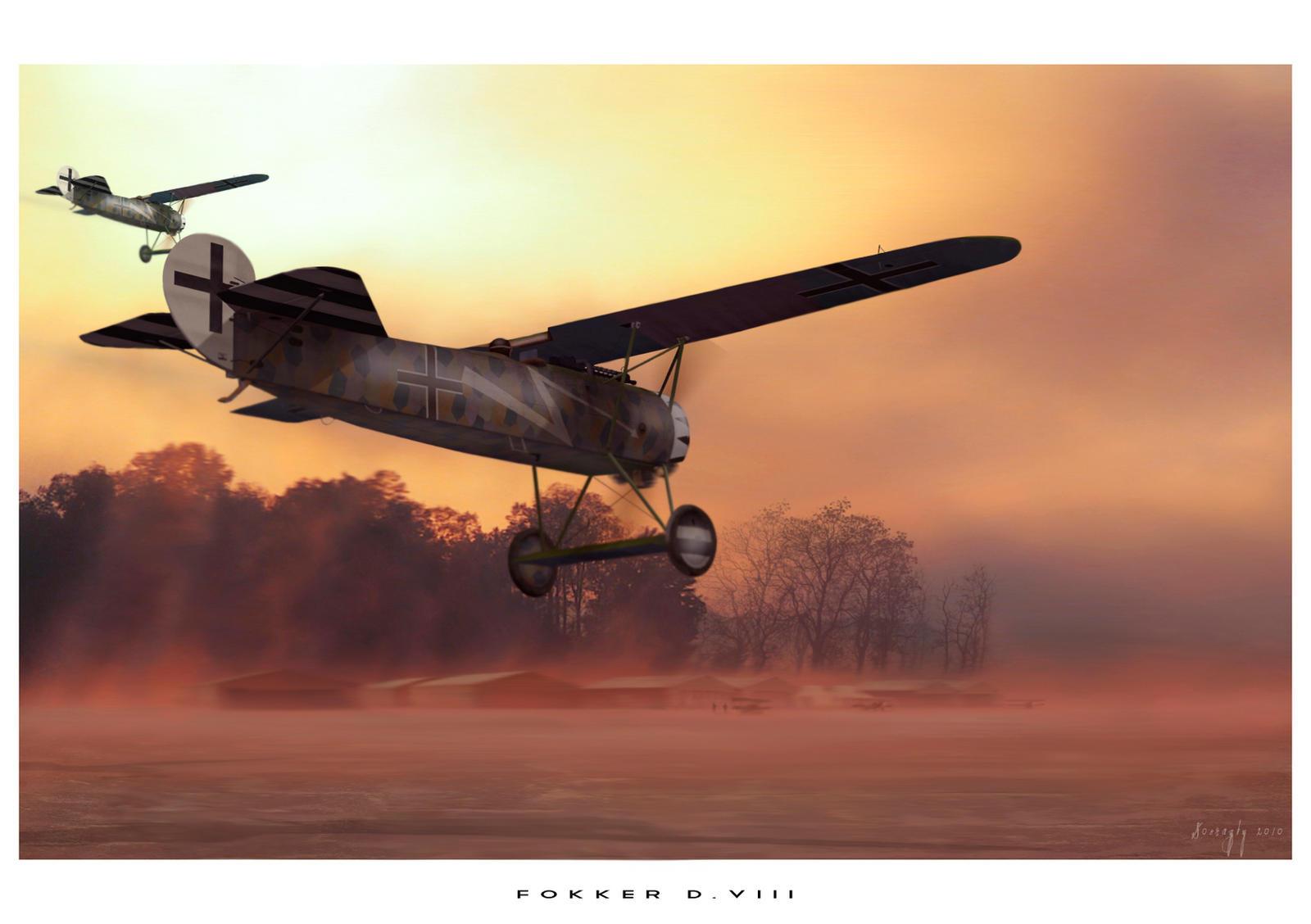 Fokker DVIII by rOEN911
