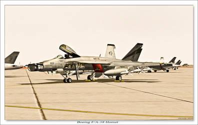 Boeing FA-18 Hornet by rOEN911