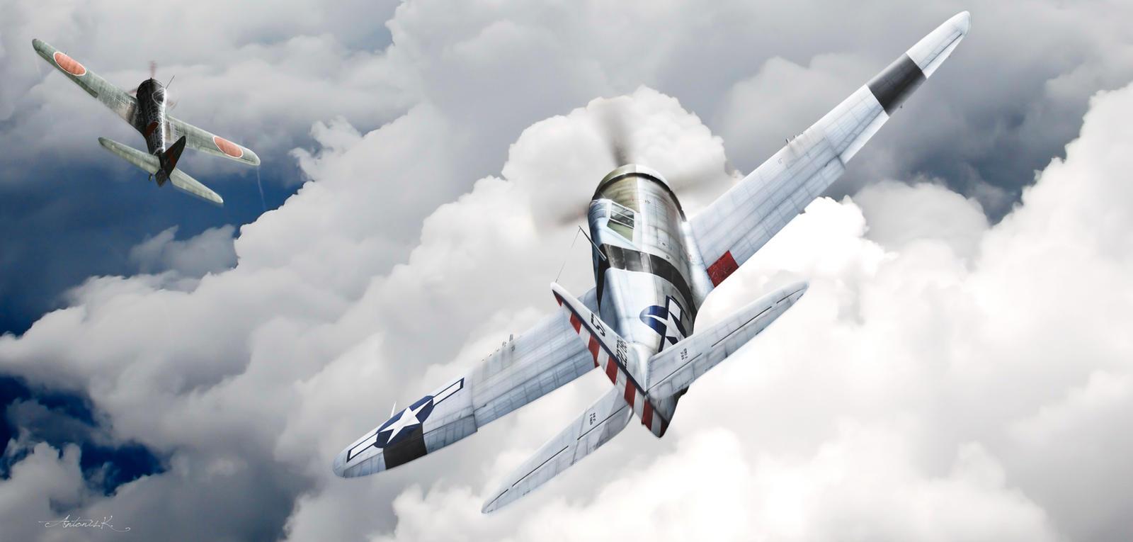 'Pacific Thunder'-Major W.Dunham by rOEN911