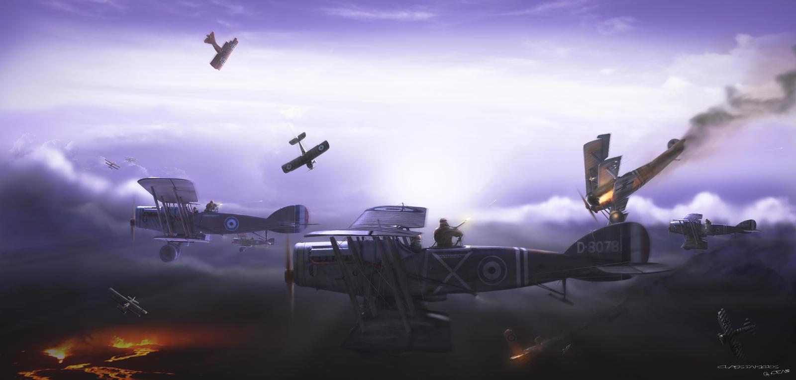 ClasH In Skies by rOEN911