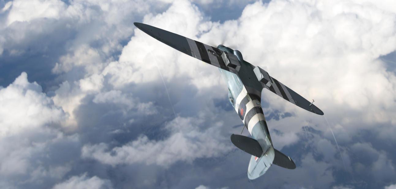 Spitfire PR Mk XIX - Barrel roll - by rOEN911